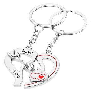 Kľúčenky pre dvoch - dve polovice srdca, šíp, srdiečka