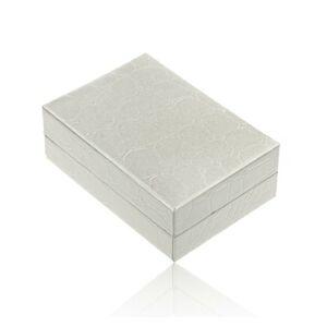Koženková krabička na náušnice alebo náhrdelník, vzor - béžová krokodília koža