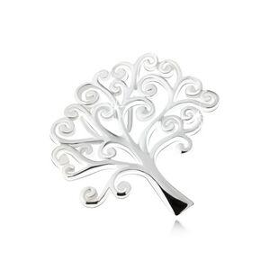 Lesklý prívesok stromu života, striebro 925