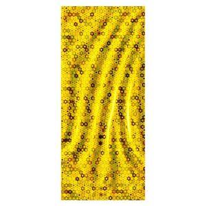 Lesklý zlatý celofánový darčekový sáčok s kruhmi