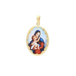 Medailón Dieťa v náručí Matky Božej