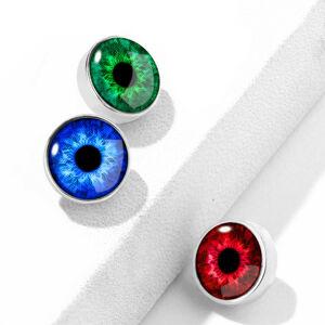 Náhradný diel do implantátu z chirurgickej ocele, farebné oko, strieborná farba, 1,6 mm - Farba: Modrá