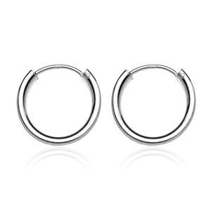 Náušnice zo striebra 925 - lesklé jednoduché kruhy, 20 mm