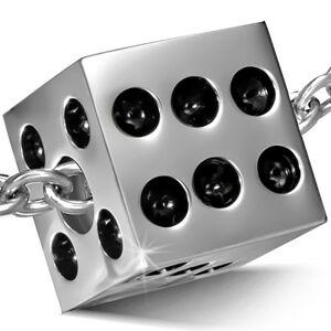 Oceľový prívesok - lesklá hracia kocka