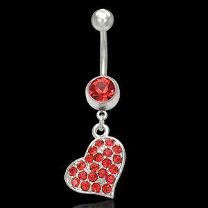 Piercnig bruška červené srdce