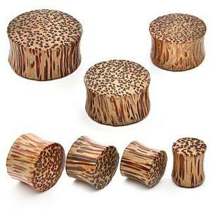 Plug do ucha - kokosové drevo - Hrúbka: 22 mm