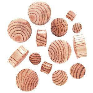 Plug do ucha zo zebrového dreva, sedlový - Hrúbka: 16,5 mm