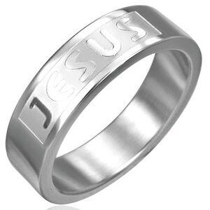 Prsteň z chirurgickej ocele - JESUS - Veľkosť: 67 mm