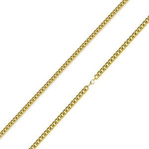 Retiazka z 316L ocele - zatočené okrúhle očká zlatej farby, 2 mm
