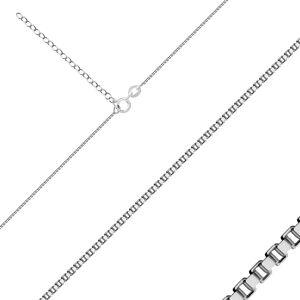 Strieborná retiazka 925 - husto prepojené hranaté očká, hrúbka 0,8 mm