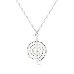 Strieborný 925 náhrdelník - lesklý a hladký symbol Cho-Ku-Rei