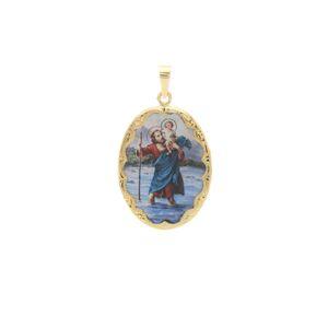 Svätý Krištof - Patrón Cestujúcich veľký medailón