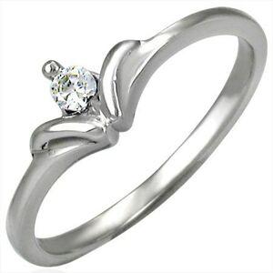 Zásnubný prsteň so vzorom mašličkového kamienka - Veľkosť: 48 mm