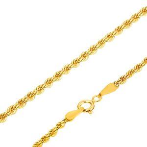 Zlatá retiazka 585 - husto prepojené očká do špirály, 500 mm