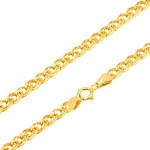 Zlatá retiazka 585 - trblietavé elipsovité väčšie a menšie očko, 450 mm